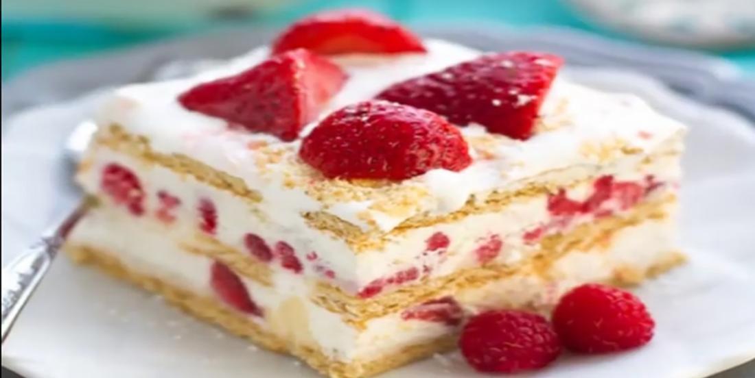 Gâteau aux fraises sans cuisson qui fera fureur auprès de vos invités