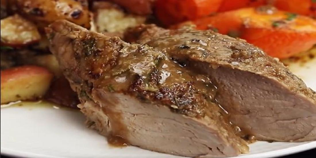 Filet de porc à l'ail et au romarin