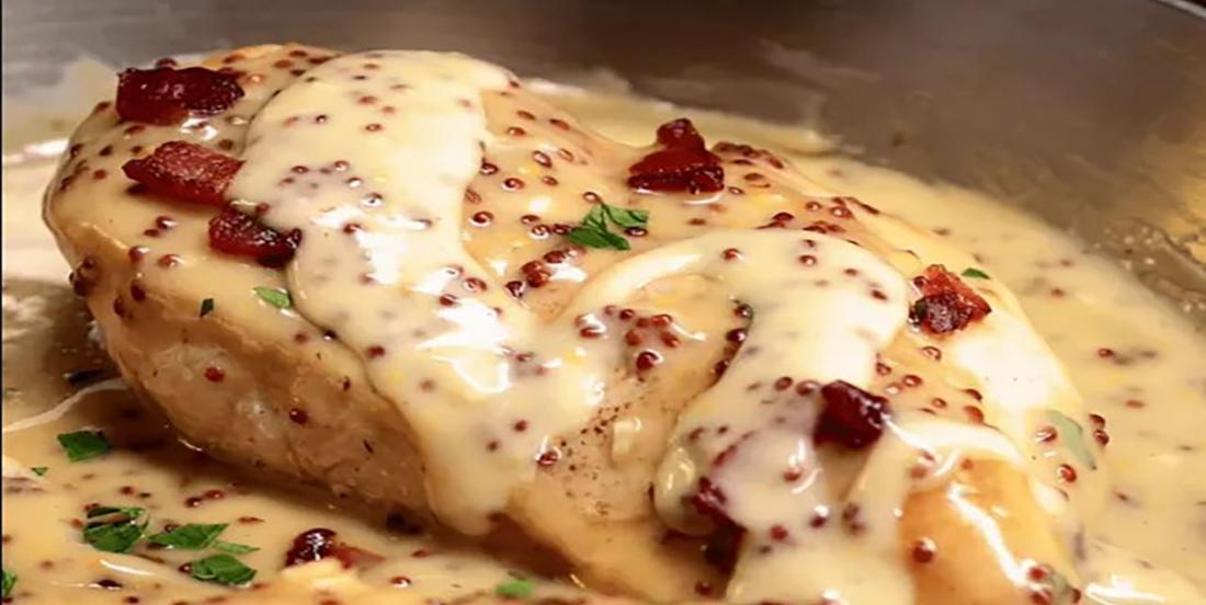 Poulet en sauce miel et moutarde prêt en 30 minutes