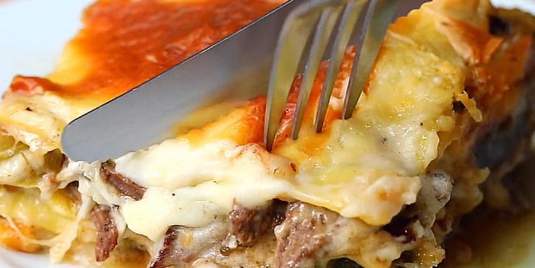 Vous aurez un coup de coeur pour cette lasagne au bifteck et au fromage