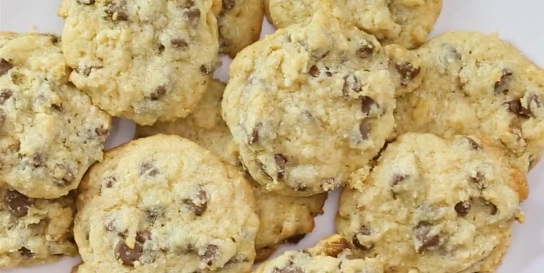 Biscuits aux pépites de chocolat et fleur de sel