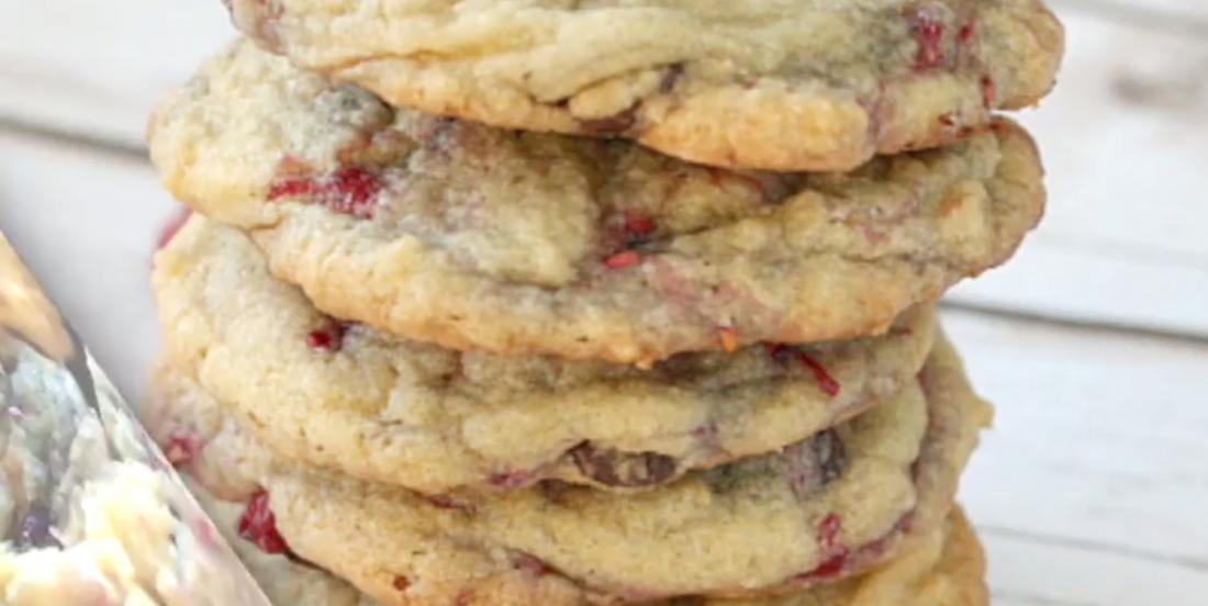 Les meilleurs biscuits aux framboises et aux pépites de chocolat