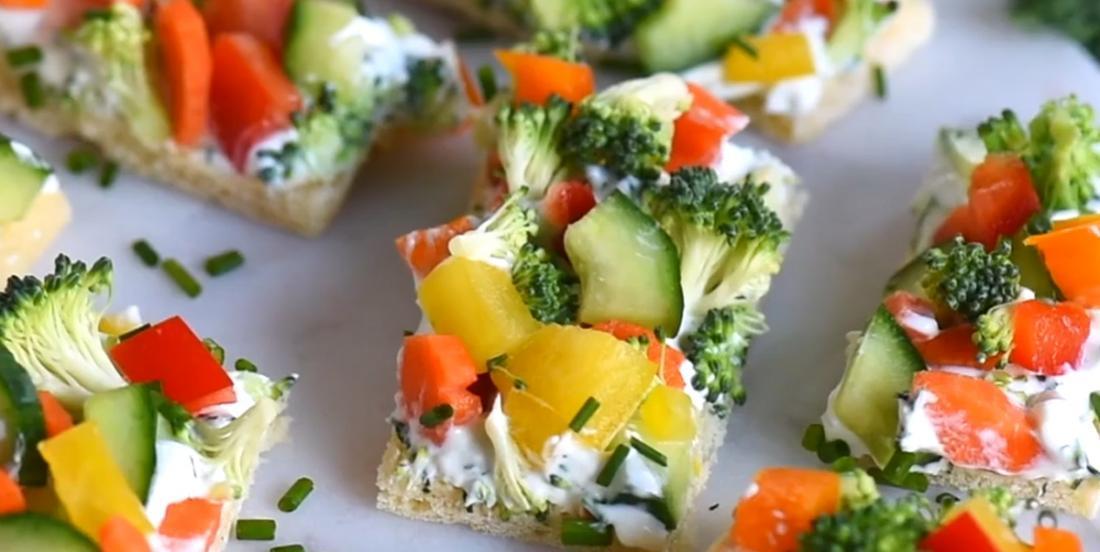 Bouchées feuilletées aux légumes frais