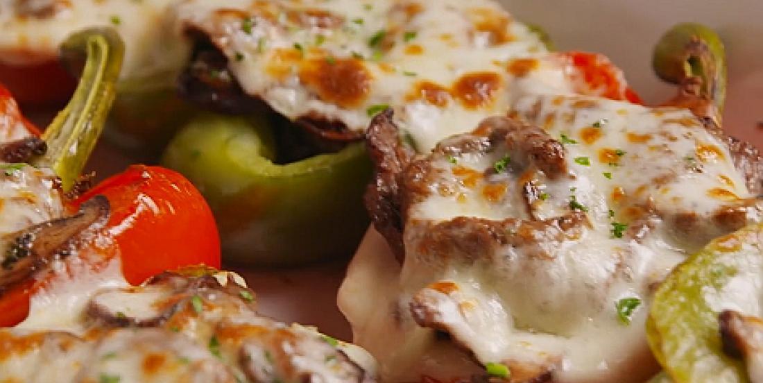 Poivrons farcis au bifteck et au fromage fondant