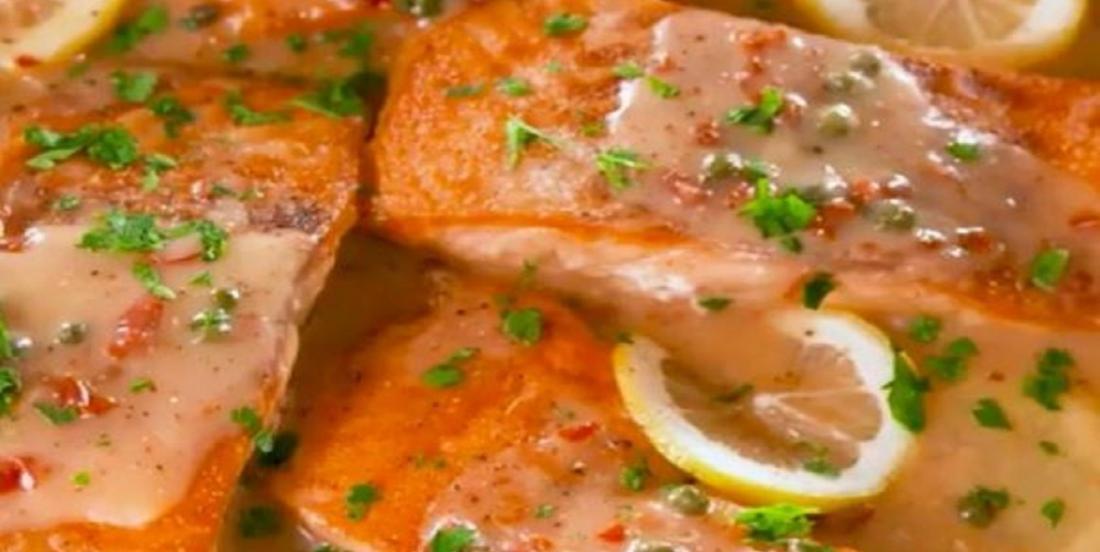 Recette de piccata de saumon prête en seulement 10 minutes!