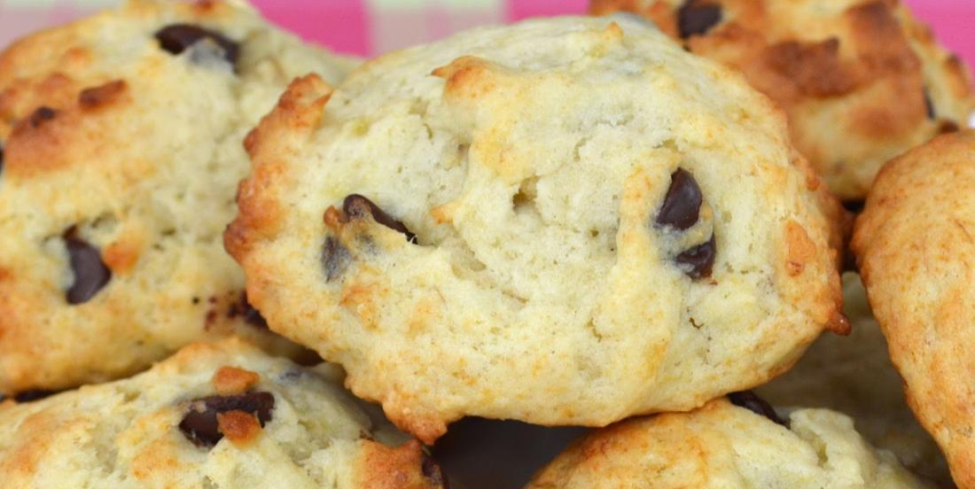 Banane et chocolat, le plus moelleux des biscuits prêts en 12 minutes!