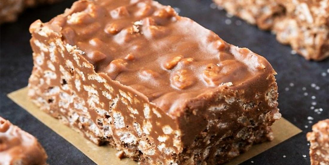 Barres croquantes au chocolat et au beurre d'arachide