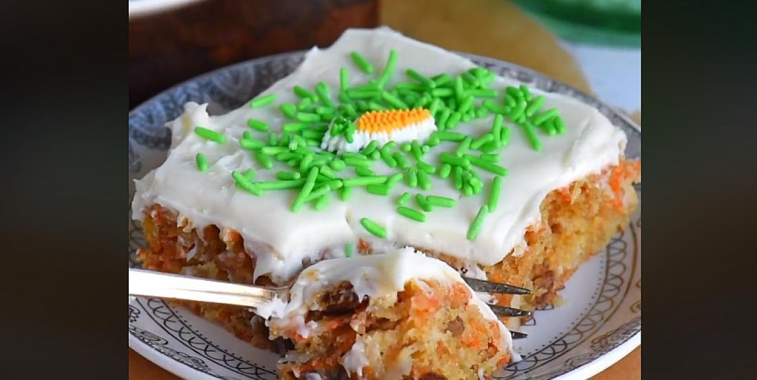 Barres de gâteau aux carottes prêtes en 30 minutes