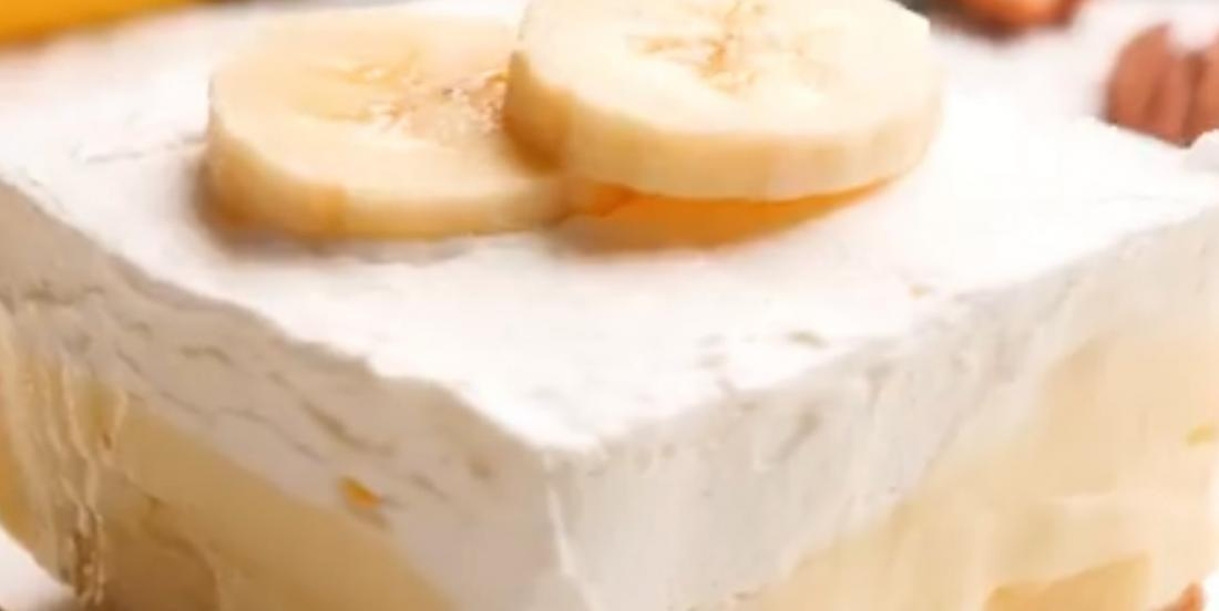 Barres de tarte à la crème de banane