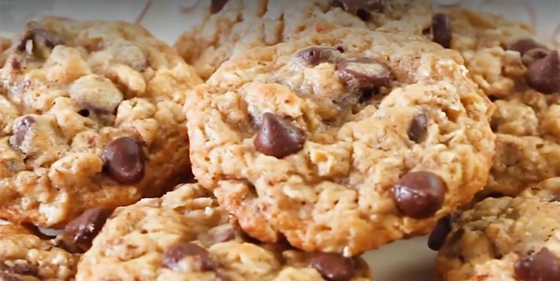 Biscuits à l'avoine et aux brisures de chocolat...un de mes préférés !