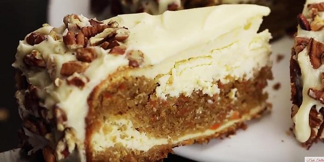 Ce cheesecake style gâteau aux carottes faible en gras est l'invention du siècle