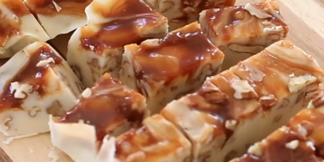 Coup de coeur gourmand  : Fudge au chocolat blanc et caramel