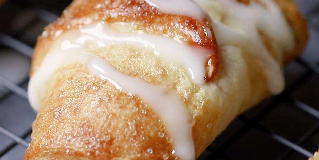 Croissants sucrés à la garniture citronnée