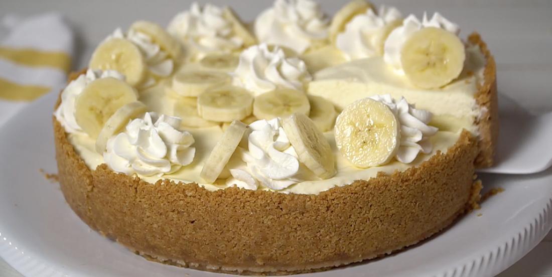 Doux cheesecake à la crème de banane