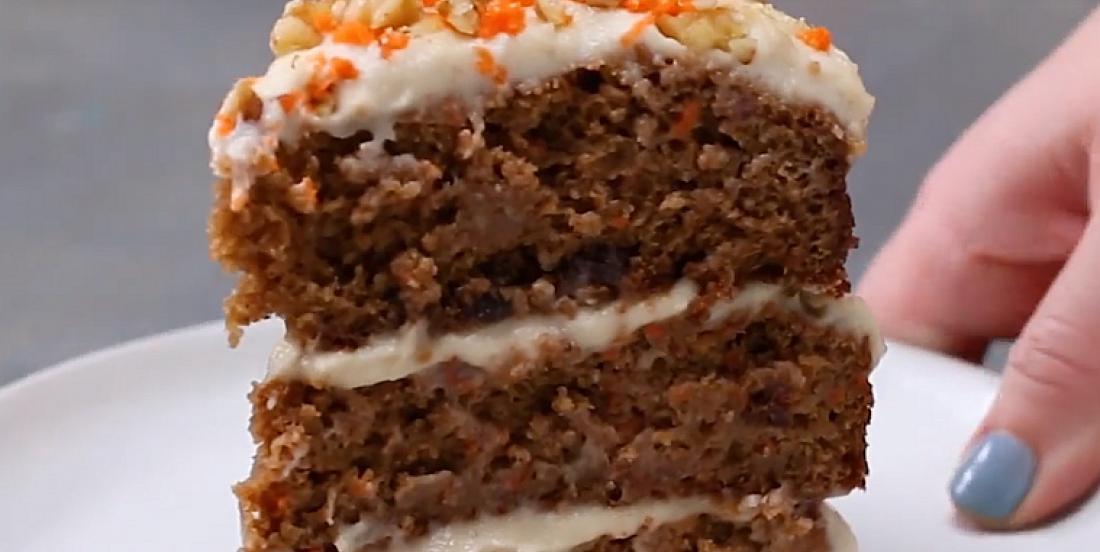 Gâteau aux carottes ultra décadent sans produits laitiers