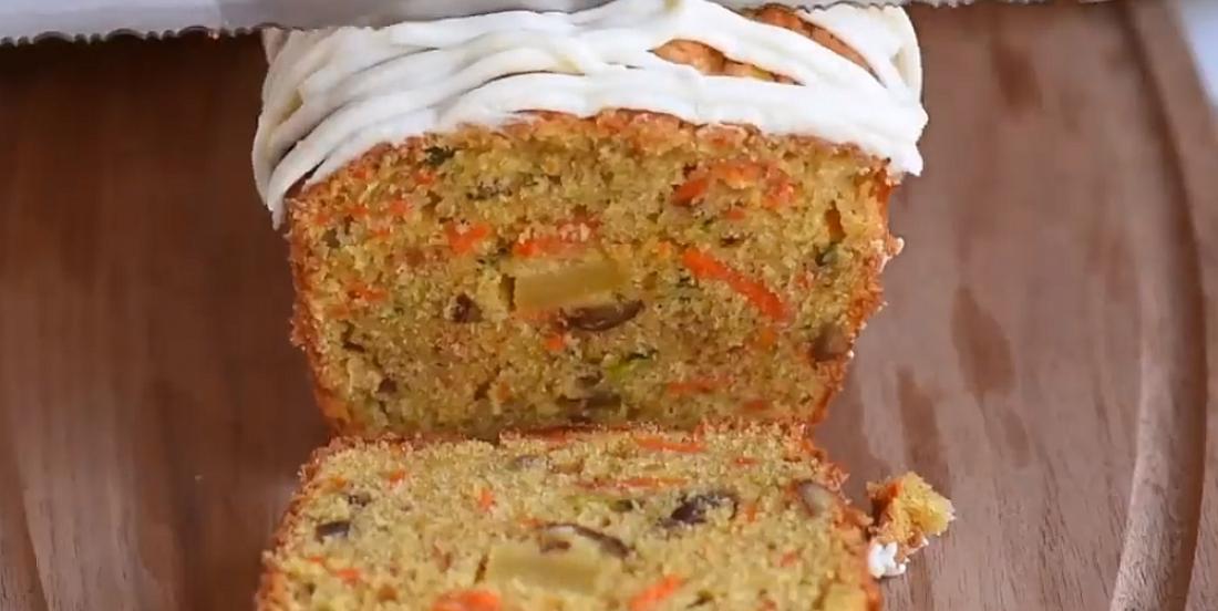 Gâteau moelleux aux carottes, pommes et courgettes