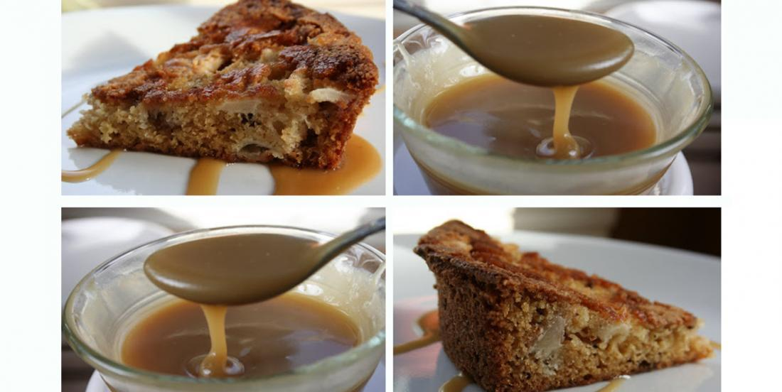 L'irrésistible gâteau aux pommes croûté, glacé au sucre à la crème