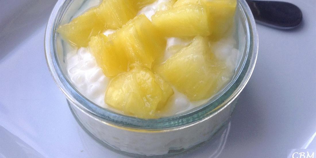 L'irrésistible pouding au tapioca... lait de coco et aux ananas