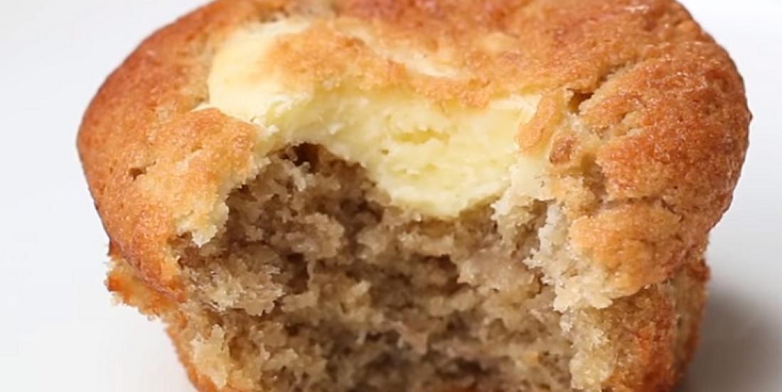Muffins bananes-fromage à la crème, pour une douce gâterie bien moelleuse