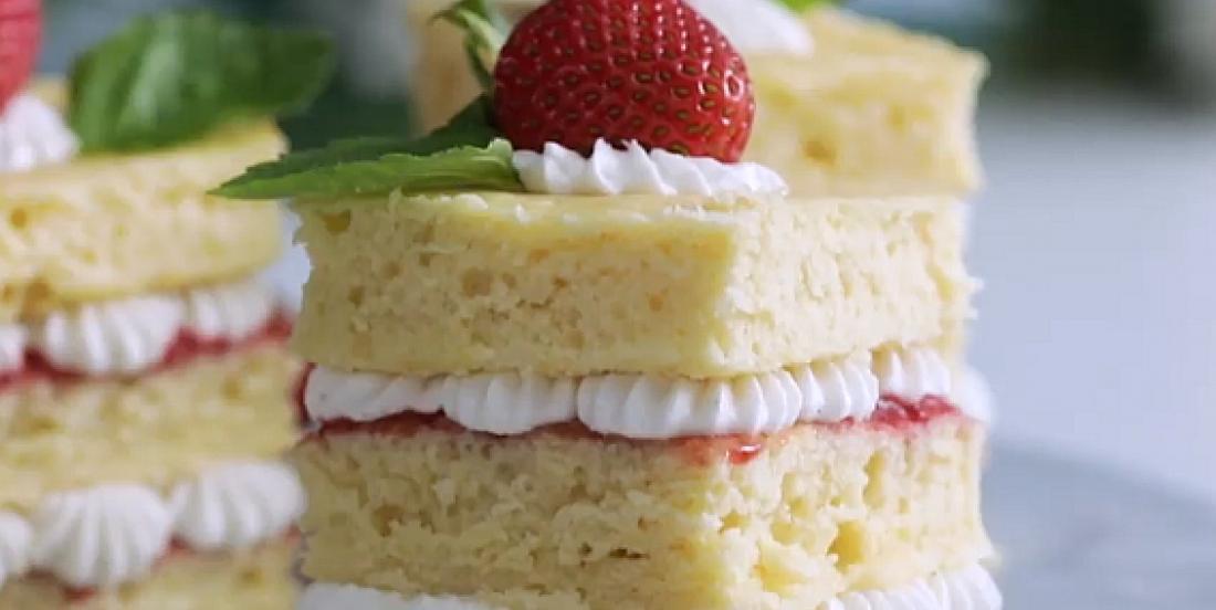 Petits fours à la vanille et aux fraises