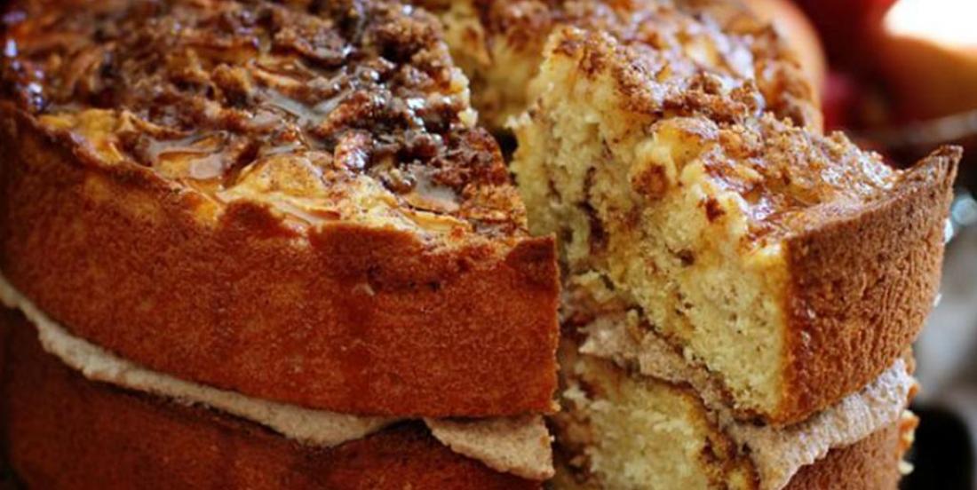 Divin gâteau pomme et caramel