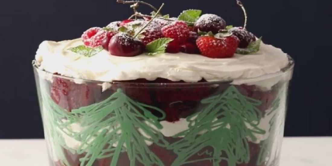 Bagatelle de Noël aux fruits rouges tout simplement exquise