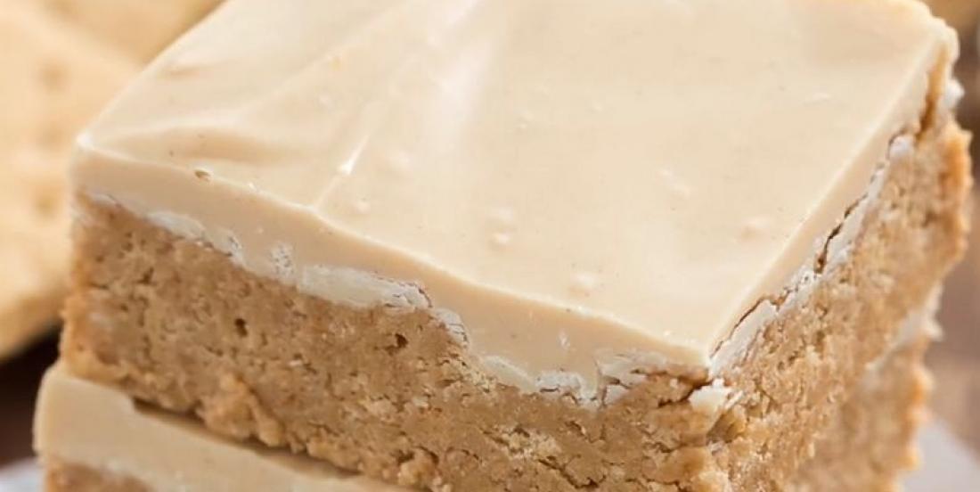 Barres au beurre d'arachide et au chocolat blanc sans cuisson