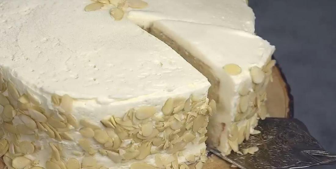 Gâteau à la crème d'amandes