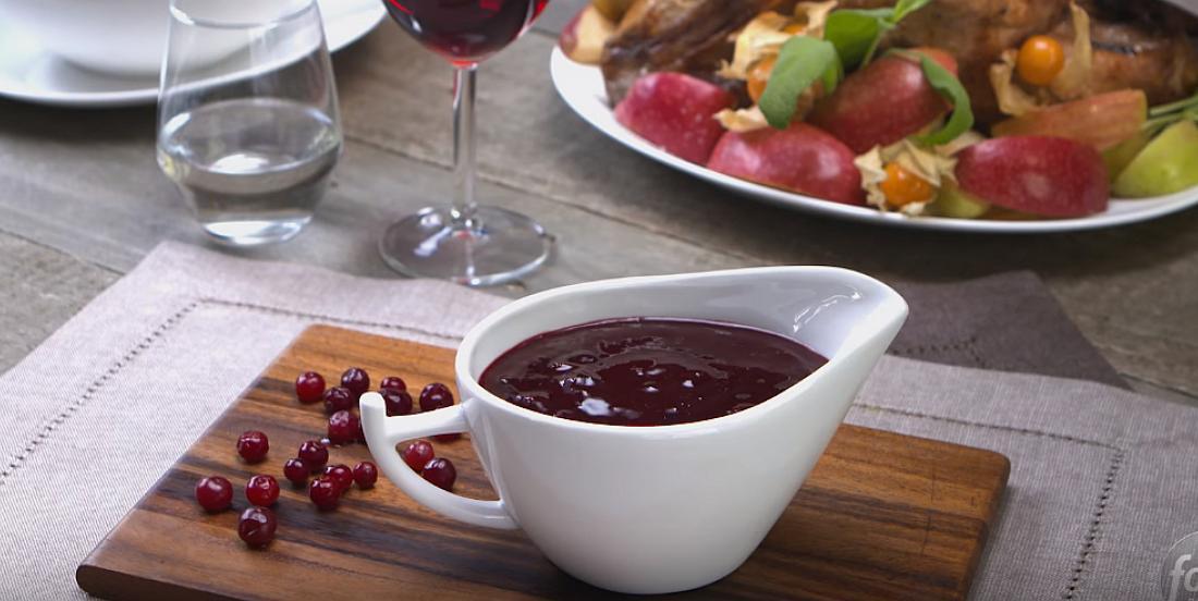 Recette classique de sauce aux canneberges maison