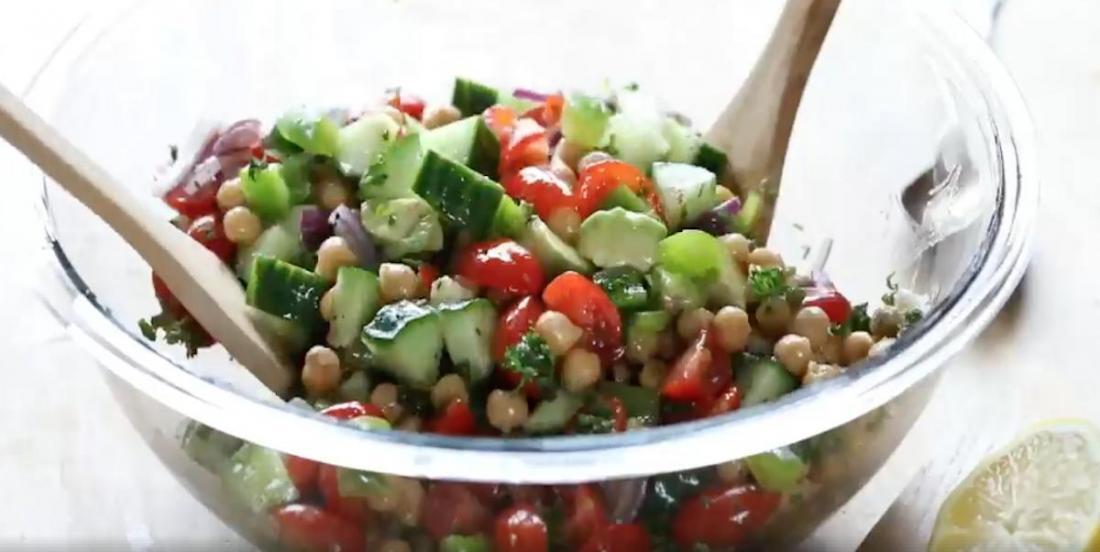 Recette de salade de pois chiches