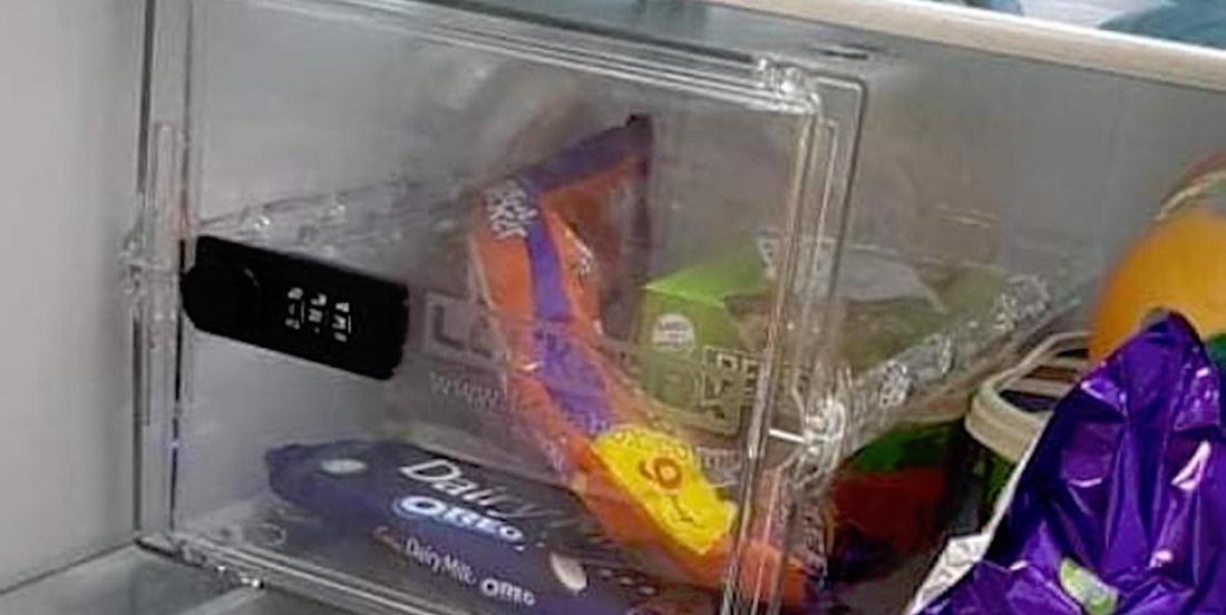 Cet homme a installé un «coffre-fort à sucreries» dans le frigo