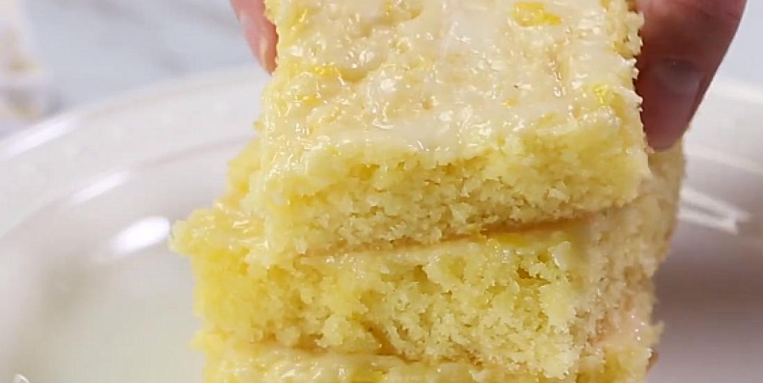 Brownies ultra moelleux au citron