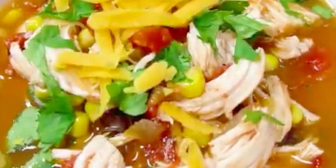 Réconfortante soupe au tacos de poulet