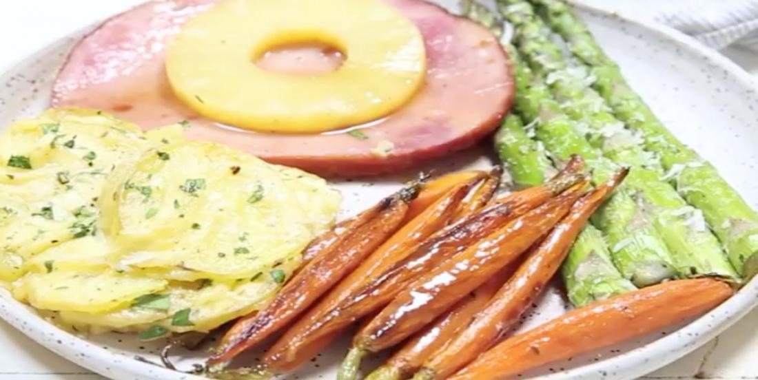 Repas complet de Pâques préparé facilement au four