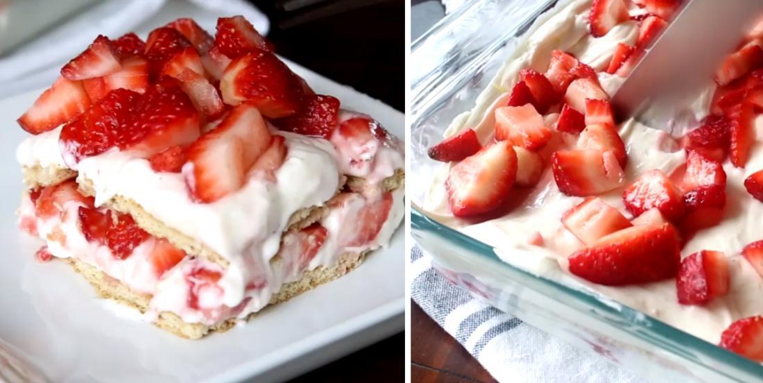 Une lasagne aux fraises... un dessert qui pourrait devenir une obsession!
