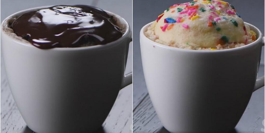 Vous aurez du mal à choisir votre préféré parmi ces 4 gâteaux dans une tasse