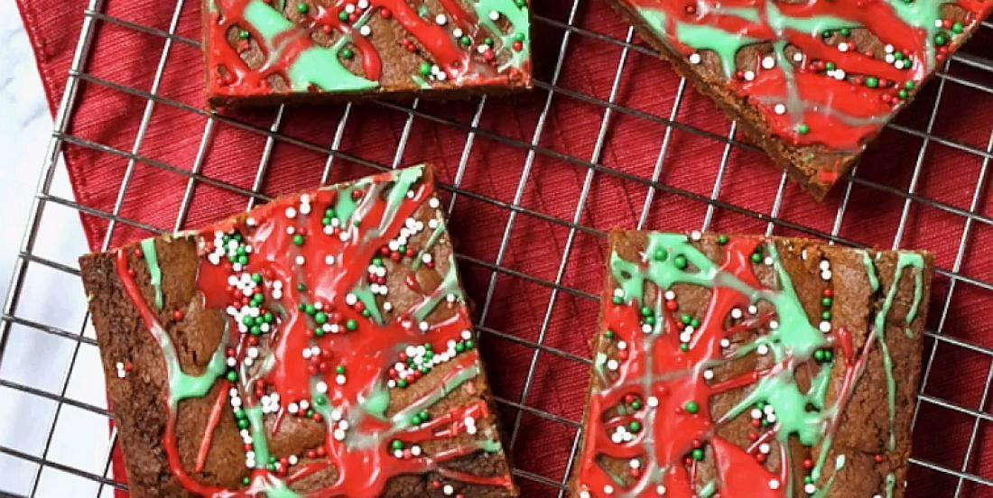 Délicieuses barres de biscuits de Noël au pain d'épice, un classique réinventé