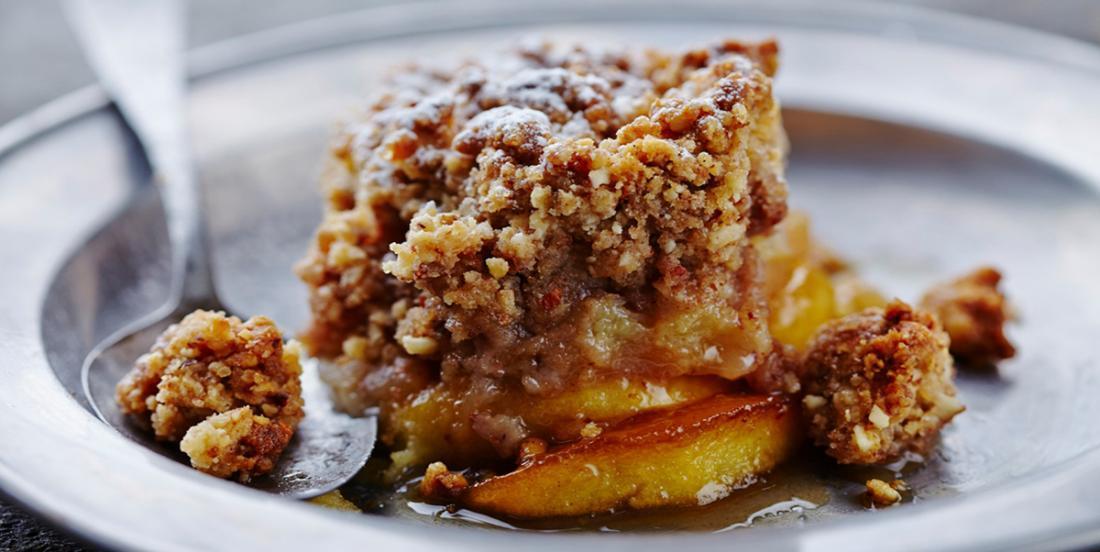 Croustade aux pommes et au sirop d'érable