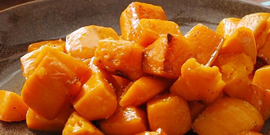 Patates douces rôties à l'érable