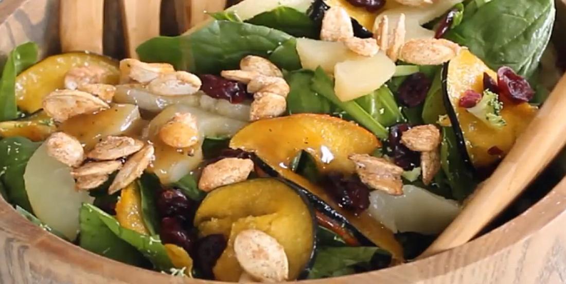 Salade croquante d'épinards digne d'un resto branché