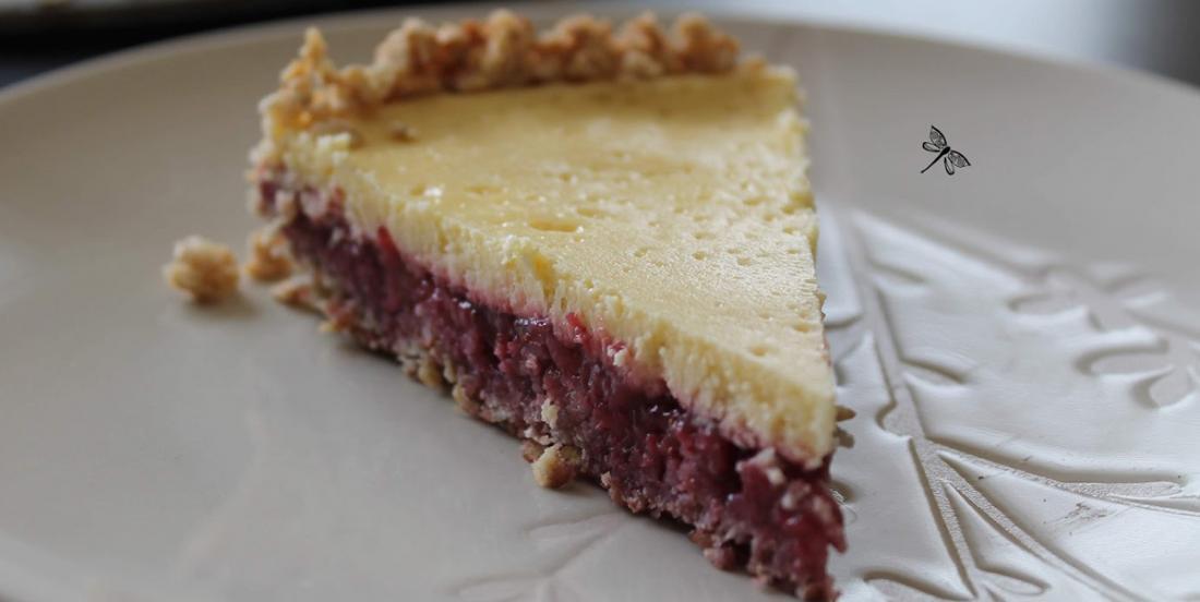Torte aux fraises et crème sure, un dessert différent et succulent