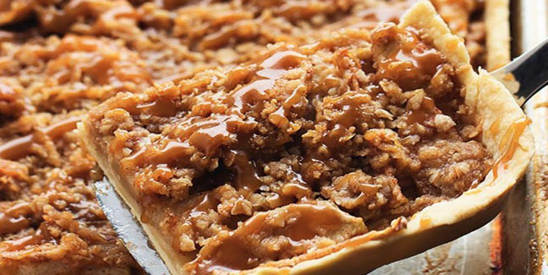 Trottoir aux pommes et au caramel