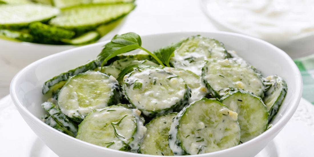 Salade de concombres à l'aneth