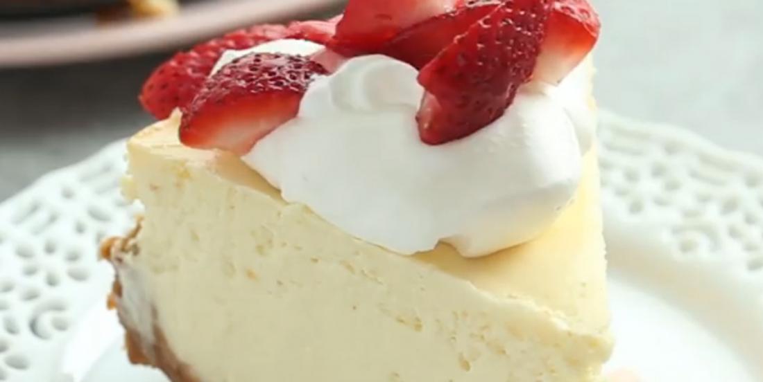 Gâteau au fromage à la vanille