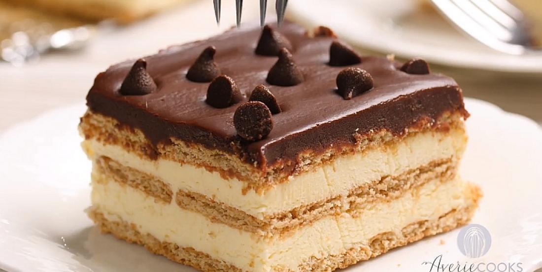 Gâteau Boston aux biscuits graham et au pouding glacé