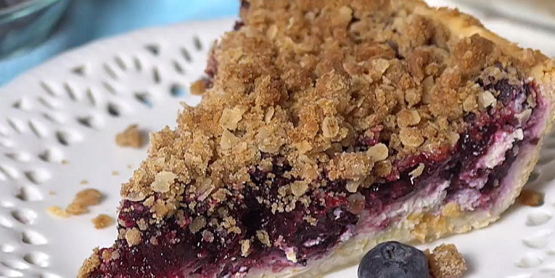 Gâteau au fromage façon tarte estivale aux bleuets