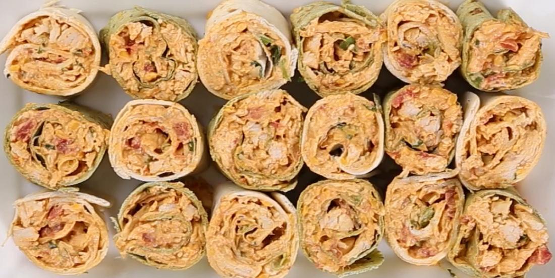Sandwichs roulés au poulet épicés