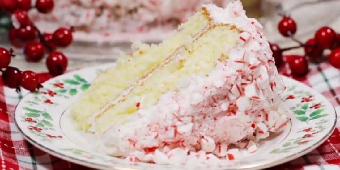 Gâteau de Noël à la menthe poivrée