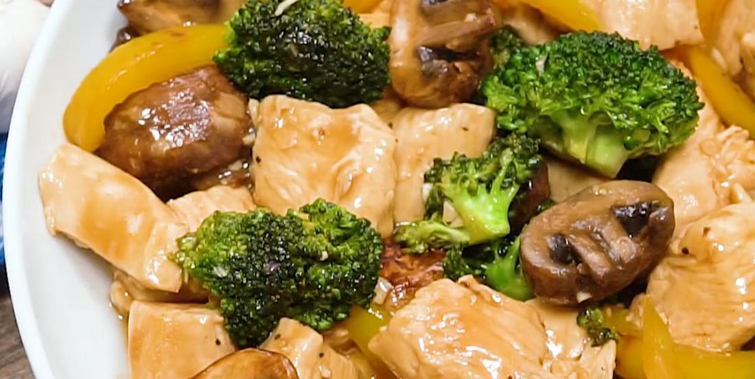 Sauté de poulet ail et brocoli