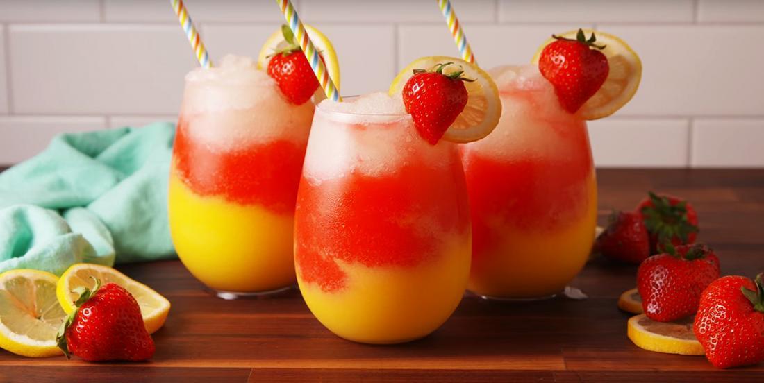 Limonade à la vodka et aux fraises